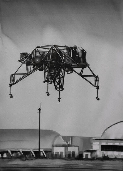 Radenko Milak, 'Neil Armstrong testing the lunar landing research vehicle in 1968', 2019