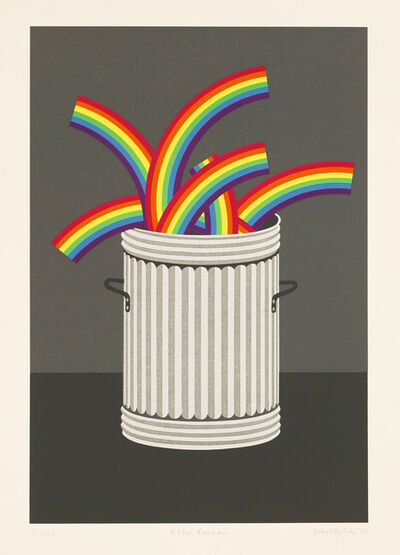 Patrick Hughes, 'Rubbish Rainbows', 1978