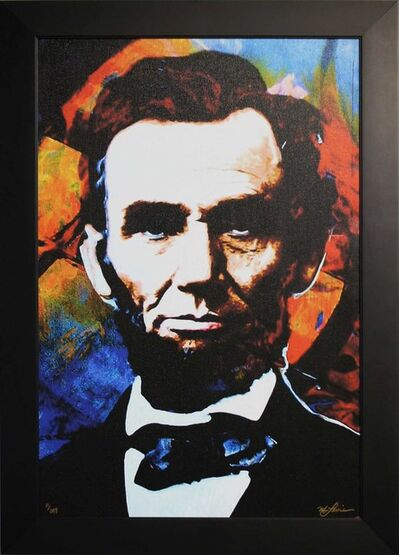 Mark Lewis (American, b. 1958), 'Limited Edition Giclee 'Knowing Lincoln - Abraham Lincoln' Celebrity Pop Art, Famous People Artwork', 2017