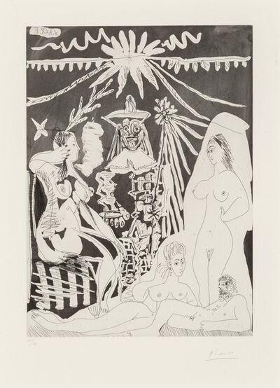Pablo Picasso, 'Homme allongé, avec deux femmes, from Seriés 347', 1968