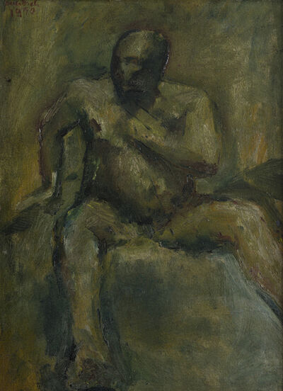 Frank Auerbach, 'Seated Man', 1950