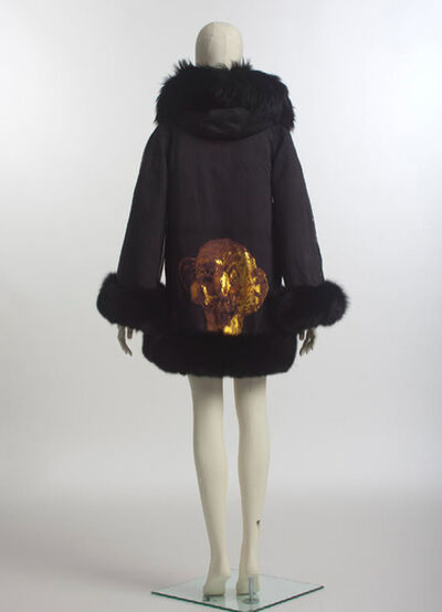George Condo, 'Opus 1.  Condo's title, Opus 1, references this as being his first-ever foray into creating fashion- while his signature and iconic gold head foiled onto the piece make for an exceptional entree.'