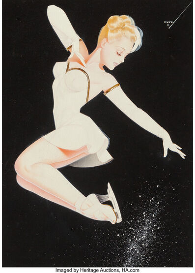 George Petty, 'Pink Tuck Jump, Ice Capades', 1947