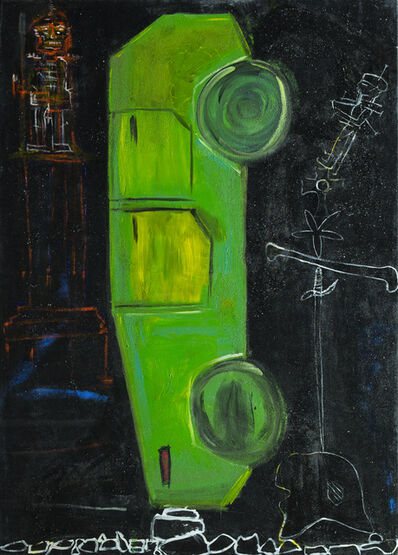 Wulf Treu, 'Car Totem, Green ', 2016