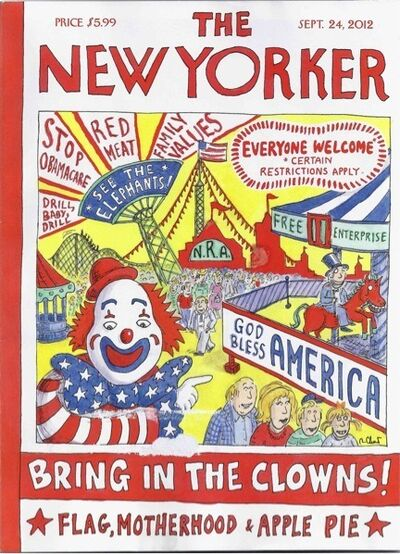 Roz Chast, 'Bring in the Clowns-Republican Cover', 2012