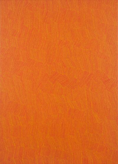 Karl Wiebke, '53-17 Yellow on Orange', 2017