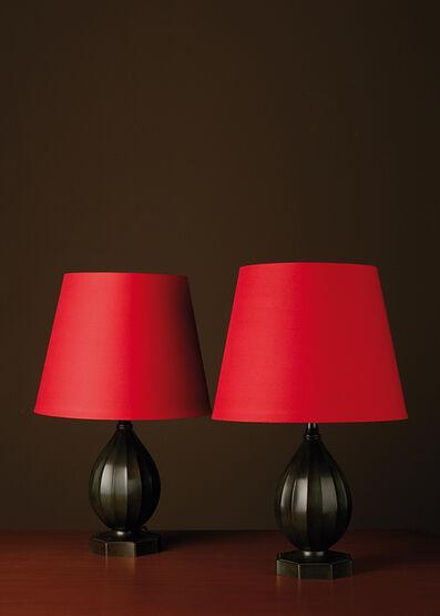 Just Andersen, 'Modèle D1860, Pair of lamps', vers 1940