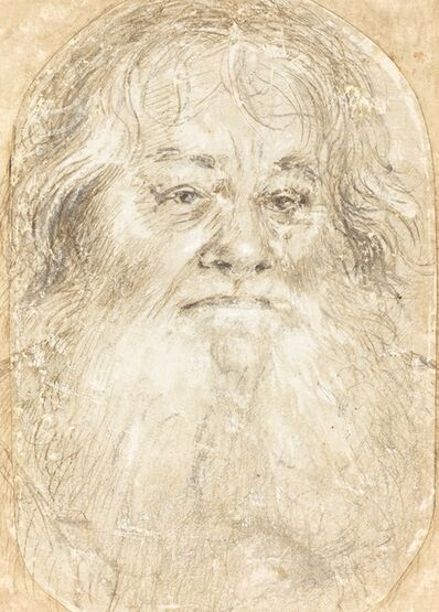 Hans Holbein the Elder, 'Study of a Bearded Man [verso]', ca. 1508/1510