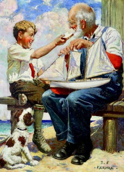 Joseph Francis Kernan, 'Sunday with Grandpa', 20th Century