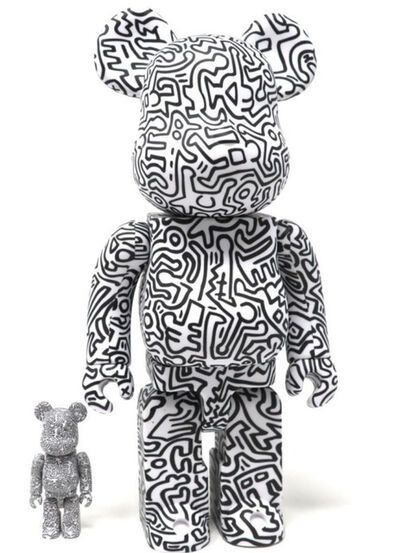 BE@RBRICK, 'KEITH HARING 400% + 100% BLACK AND WHITE (VERSION 4)', 2019