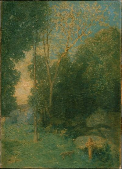 Julian Alden Weir, 'Pan and the Wolf', ca. 1907