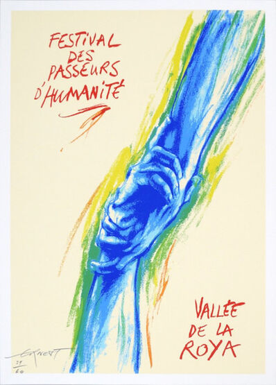 Ernest Pignon-Ernest, 'Passeurs d'humanité', 2019