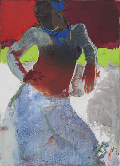 Serhiy Hai, 'Nude with Transparent Red Top', 2013