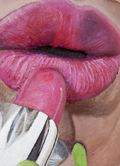 Gina Beavers, 'Crystal Pink Lip 1', 2017