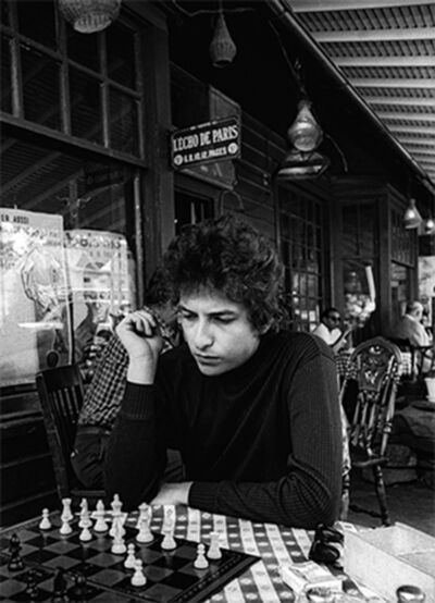 Daniel Kramer, 'Bob Dylan Playing Chess, Woodstock, New York', 1964