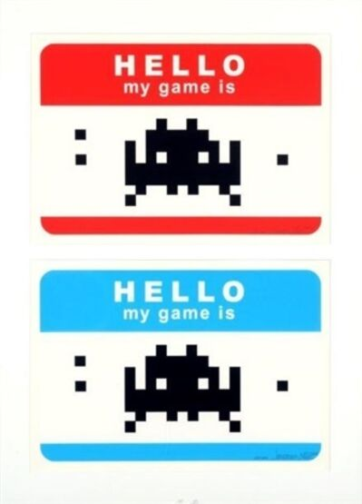 Invader, 'Hello My Games Is (Red & Blue)', 2009