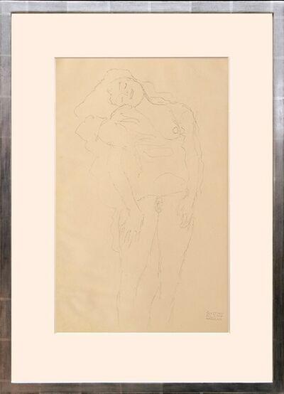 Gustav Klimt, 'Weiblicher Akt, stehend. (Female Nude, Standing.)', 1919
