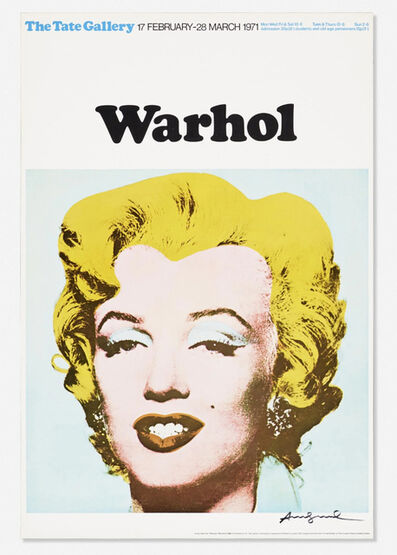 Andy Warhol, 'Marilyn Exhibition Poster for Warhol: The Tate Gallery', 1971