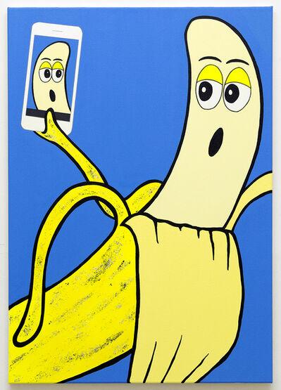 Michael Pybus, 'Banana Selfie (Azure)', 2018