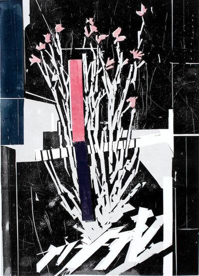 Alexander Tinei, 'Field flower (pink stripe)', 2020