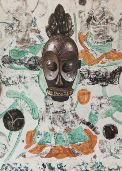 Xu Zhen 徐震, 'Evolution- North Wall of Mogao Cave No. 023, Diula Mask', 2019