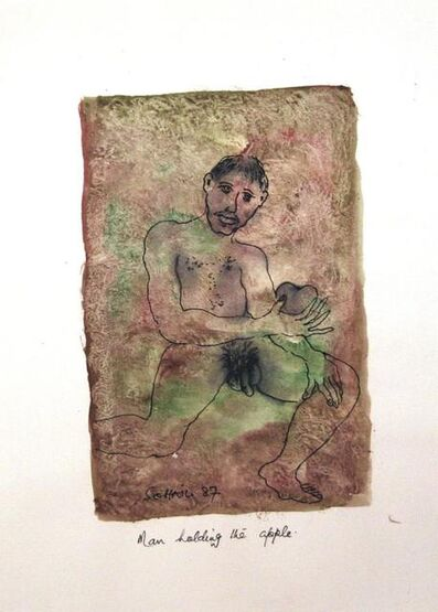 Tasaduq Sohail, 'Man holding the Apple', 1987