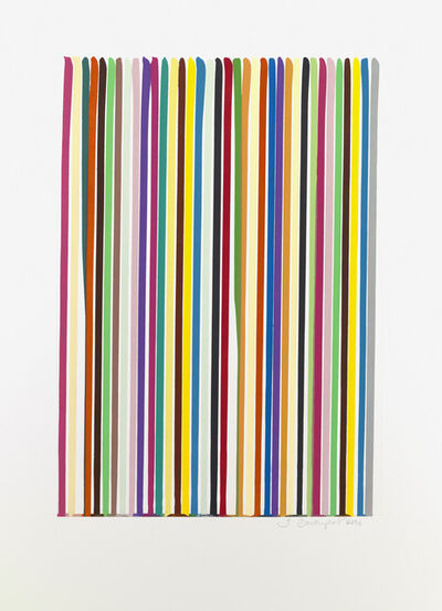 Ian Davenport, 'Etched Lines 3', 2006