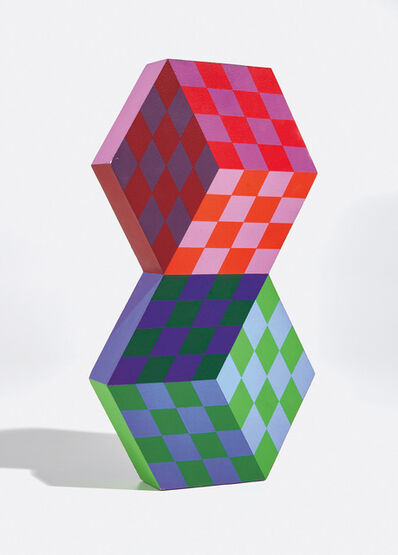 Victor Vasarely, 'Tridim-bm: one part', 1988
