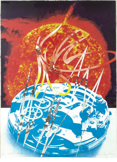 James Rosenquist, 'Sun Sets On The Time Zone (Glenn 216)', 1989
