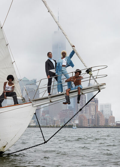 Roe Ethridge, 'Telfar in New York Harbor', 2018