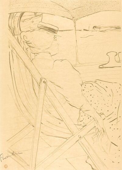 Henri de Toulouse-Lautrec, 'The Passenger from Cabin 54 - Sailing in a Yacht (La passagère du 54 - Promenade en yacht)', 1896