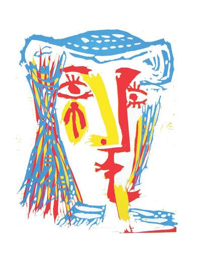 Pablo Picasso, 'Femme au chapeau de paille bleue', 1962 (January 16-Mougins)