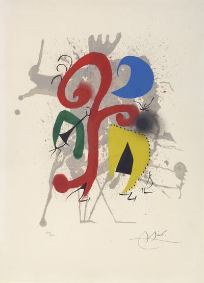 Joan Miró, 'Jardin au Clair de Lune. Garden by Moonlight. Hommage à Tériade', 1961