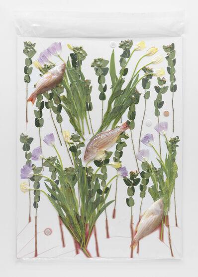 Brad Troemel, '3 Fish, Flowers, 3 Crypto Vest Litecoins, 1 AOCS Copper Round', 2014