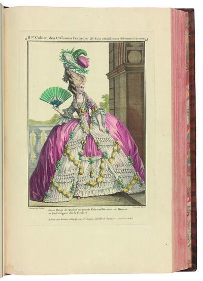 Jean-Antoine Watteau, 'Gallerie des Modes et Costumes français dessinés d'après nature, gravés par les plus célèbres Artistes en ce genre et colorés avec le plus grand soin par Madame Le Beau. Ouvrage commencé en l'année 1778. ', 18th Century