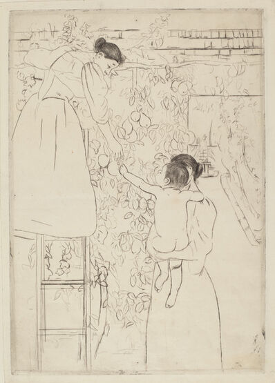 Mary Cassatt, 'Gathering Fruit', ca. 1893