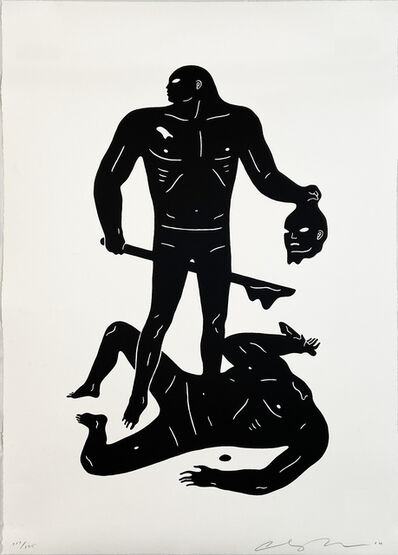 Cleon Peterson, ''The Judgment' (black & white)', 2016