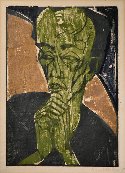 Erich Heckel, 'Männerbildnis (Selbstbildnis)', 1918
