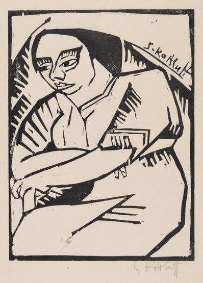 Karl Schmidt-Rottluff, 'Woman with her Arms Crossed', 1913