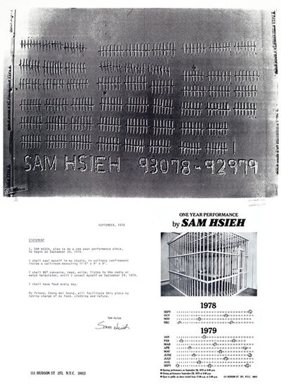 Tehching Hsieh, 'One Year Performance (Cage Piece)', 1978-1979