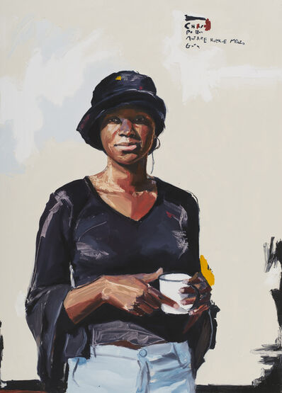 Kudzanai-Violet Hwami, 'Young Lady with Enamel Mug (Portrait of Chioniso)', 2017