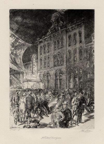 John Sloan, 'Fourteenth Street, the Wigwam.', 1928