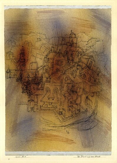 Paul Klee, 'Der Fürst und seine Stadt (The Prince and his Town)', 1925