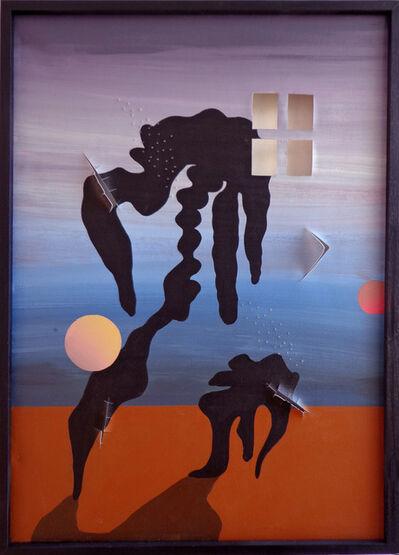 Fernanda Laguna, 'Éxodo de mi mente hacia un cuadro marrón y azul', 2013