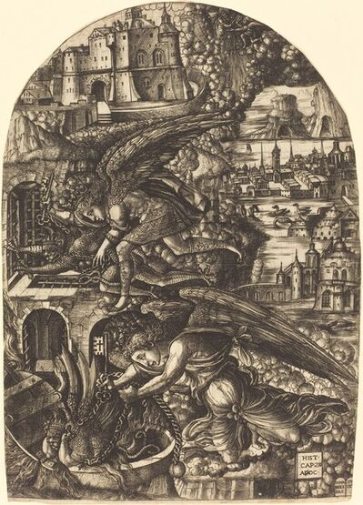Jean Duvet, 'Satan Bound for a Thousand Years', 1546/1556