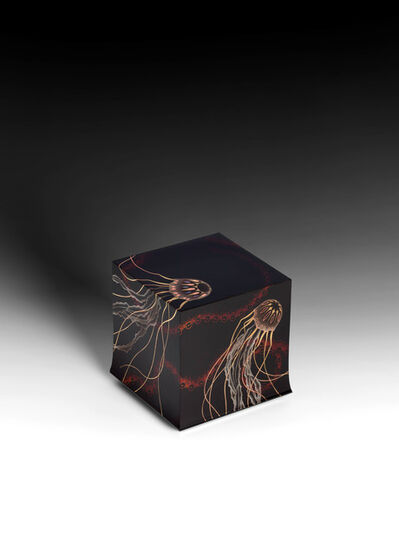 "Yoshio Okada, '""Fluttering"" Box with Sprinkled Design of Jellyfish (T-4487)', 2020"