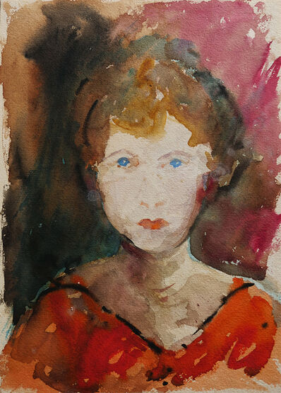 Miles Evergood, 'Polly in Red Dress, QLD', 1931