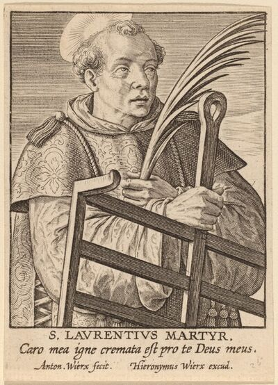 Antonie Wierix, 'S. Laurentius Martyr'