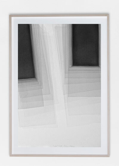 Joachim Bandau, 'Black watercolor', 2017