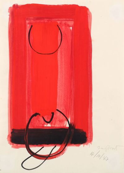 Sir Terry Frost, 'Untitled red and black '